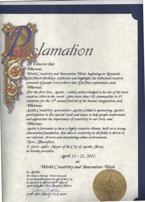 Austin ACA Proclamation 4.15.15