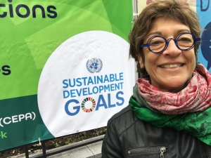 WCID founder Marci Segal outside the UN April 20, 2017.